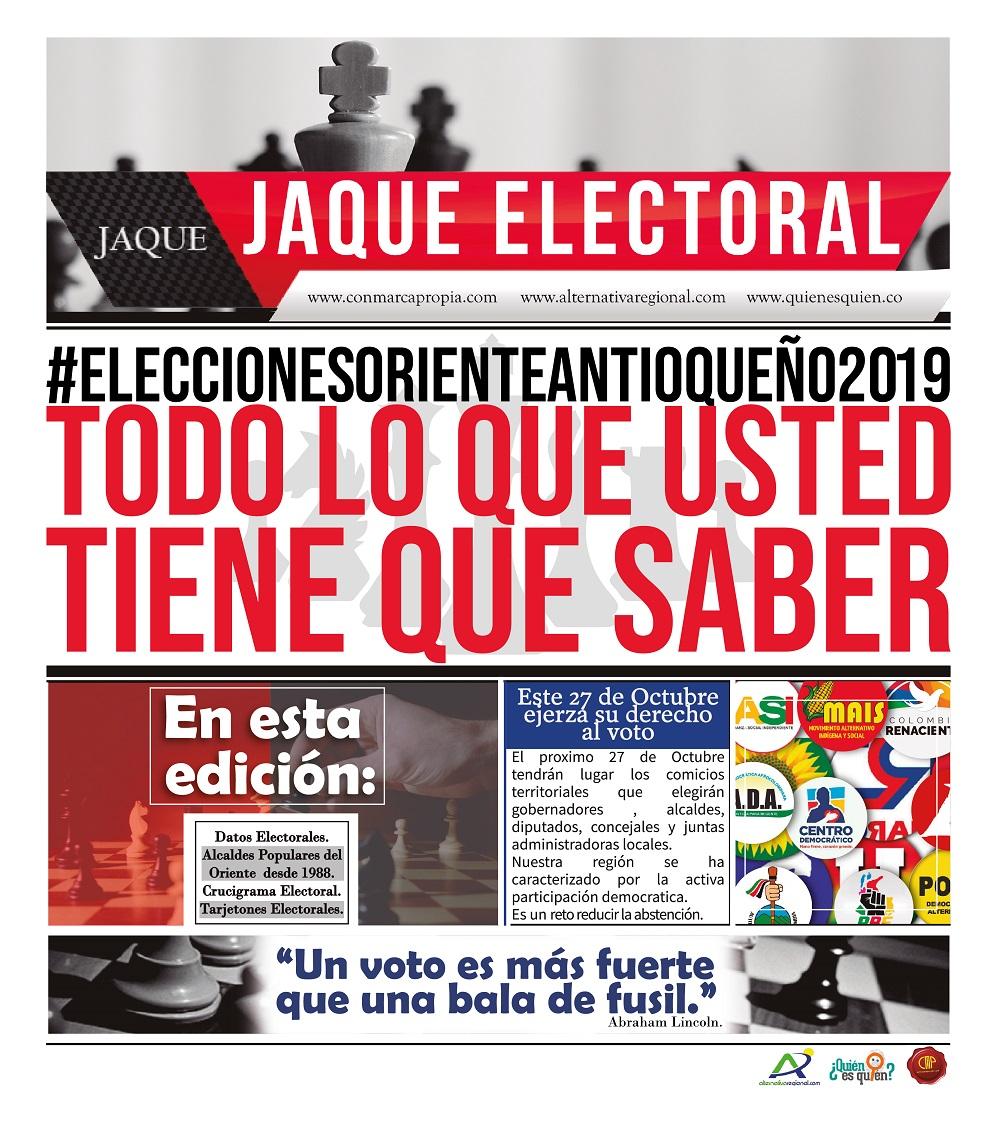 JAQUE ELECTORAL elecciones 2019
