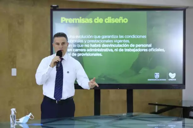 Reestructuración administrativa al interior de la Gobernación de Antioquia.