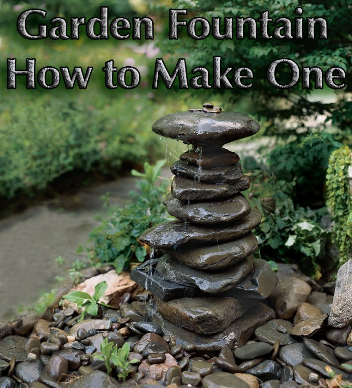 Garden Fountain – How to Make One