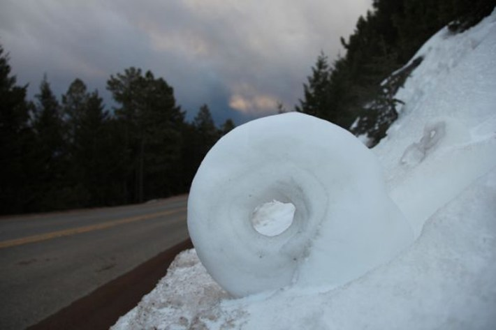 extraordinary natural phenomena Snow wheels