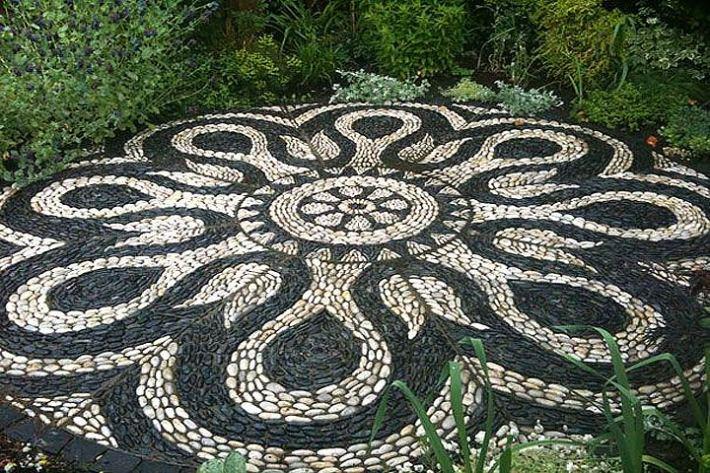 Mosaic Ideas For The Garden Quiet cornergarden pathway pebble mosaic ideas quiet corner garden pathway pebble mosaic ideas workwithnaturefo