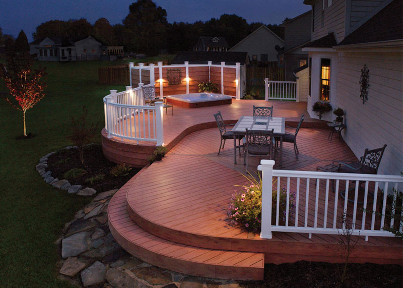 Backyard Deck Design how to build a floating deck Great Deck Design Ideas 4