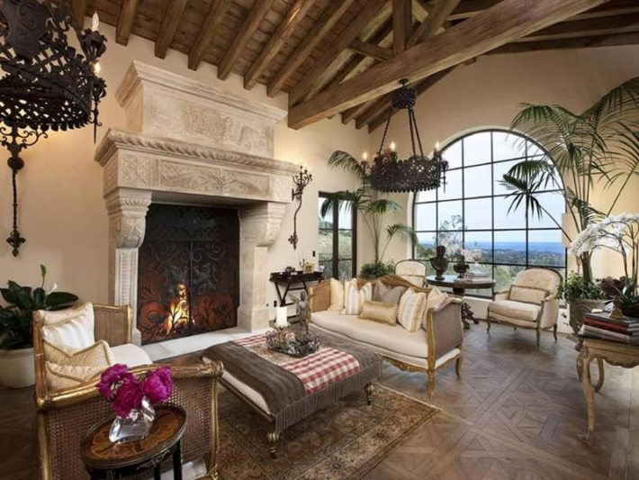 Living Room Designs With Exposed Beams (1)