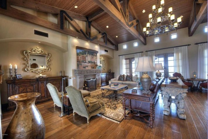 Living Room Designs With Exposed Beams (5)