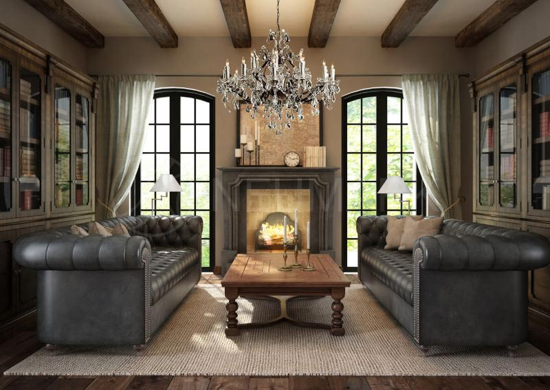 Living Room Designs With Exposed Beams (8)