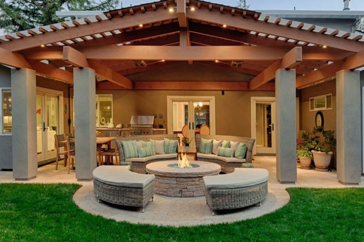Quiet corner outdoor fire pit seating ideas quiet corner - Small backyard fire pit ideas ...