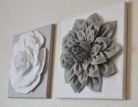3D Felt Flower Wall Art DIY Tutorial