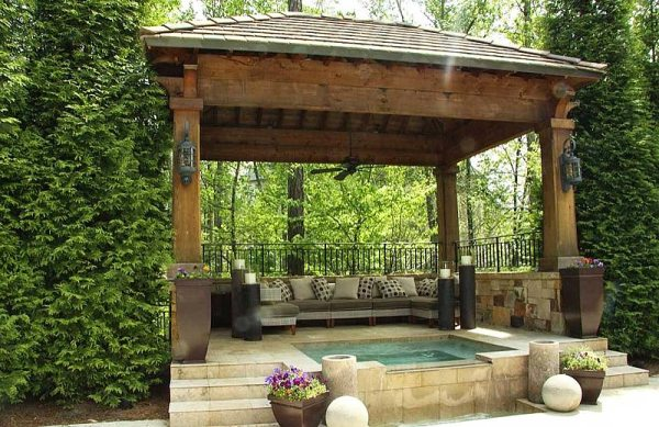 backyard gazebo ideas - quiet corner