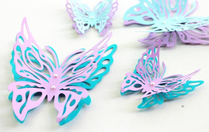 Butterfly Pattern Wall Decor s (4)
