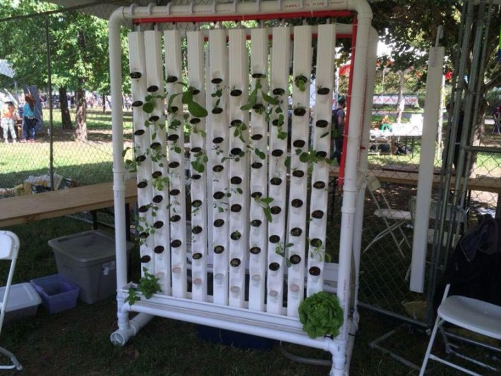 DIY Vertical PVC Planter (3)