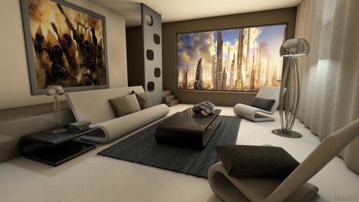 Quiet corner living room photo wallpapers and wall art - Complementos decoracion salon ...