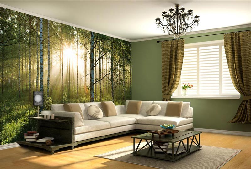 Quiet Corner:Living Room Photo Wallpapers and Wall Art ...