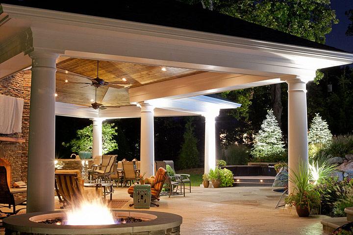 Backyard Lighting Fixtures - Quiet Corner