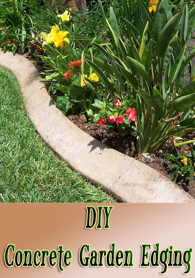DIY - Concrete Garden Edging - Quiet Corner