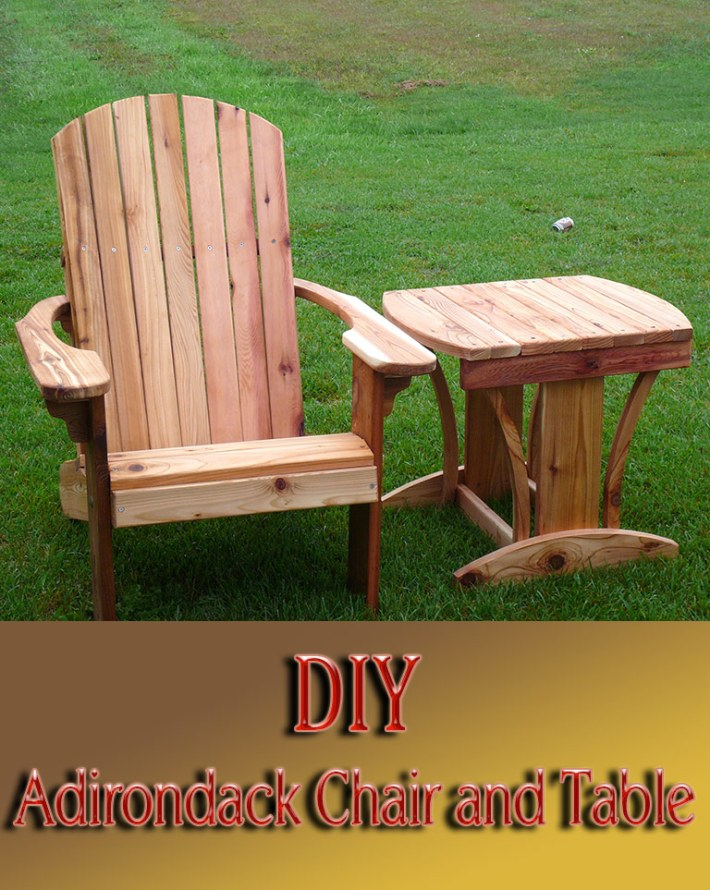 DIY – Adirondack Chair and Table