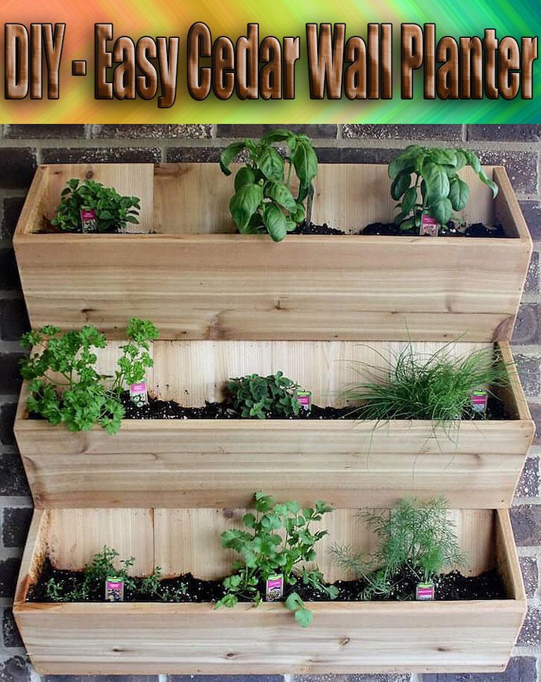 DIY - Easy Cedar Wall Planter - Quiet Corner
