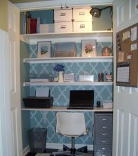 Turn Your Closet into a Home Office - Quiet Corner
