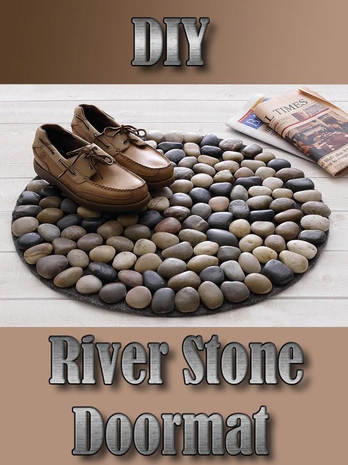 DIY River Stone Doormat