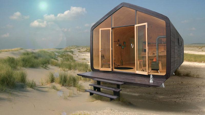 Wikkelhouse - Modular Microhome Made of Cardboard - Quiet Corner