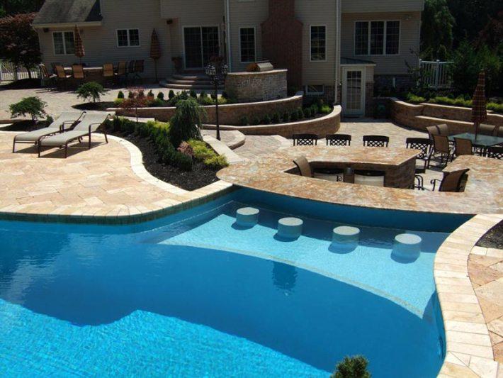 Quiet CornerBackyard Pool Designs For Contemporary