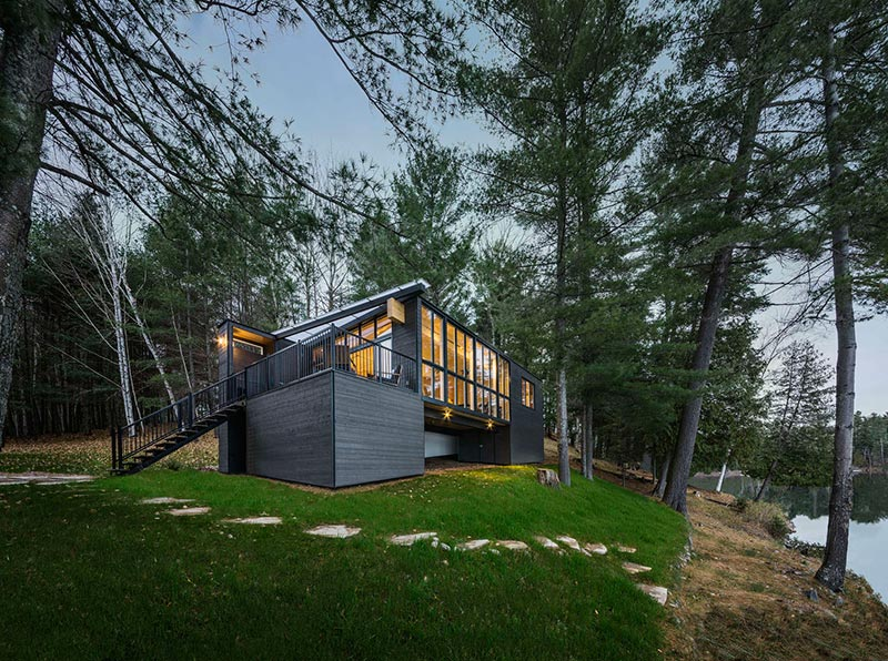 Quiet Corner Beautiful Prefab Cabin In Quebec Made Out Of