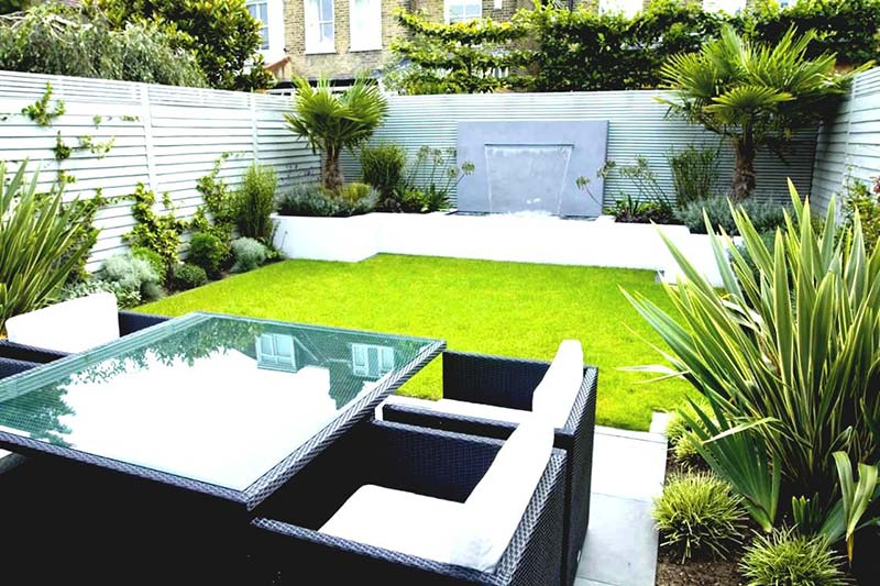 Quiet Corner:Landscape Design Ideas with Modern Seating Area - Quiet ...