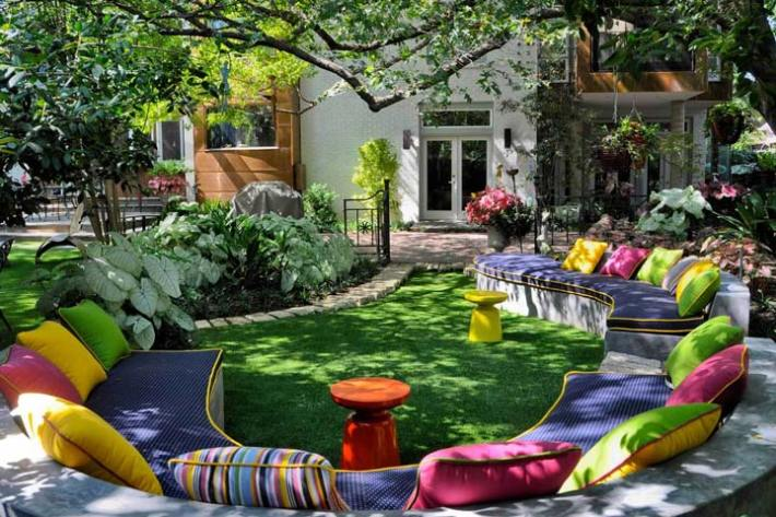 landscape design ideas with modern seating area - Landscape Design Ideas Pictures