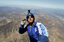 Skydiver jumps from 25,000 ft with no parachute, into a net!