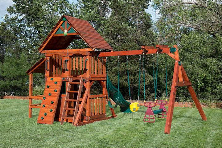 DIY U2013 Backyard Wooden Swing Set