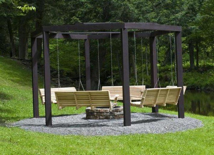 Beautiful Wooden Swings