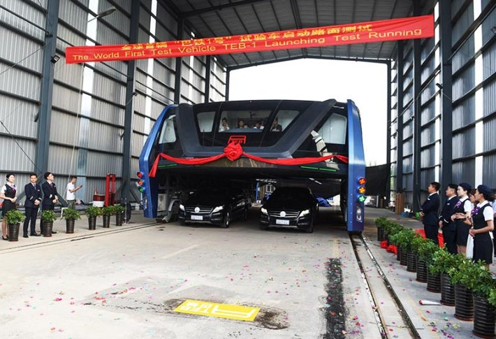Remember China's Elevated Bus That Drives Over Traffic Well, They've Actually Built It