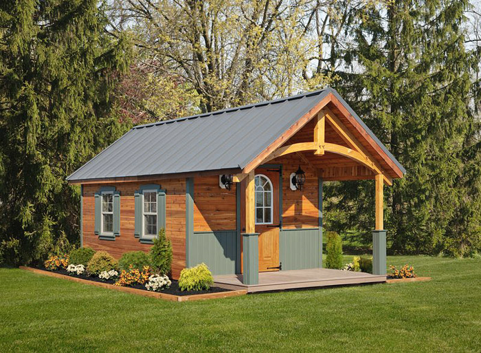 Amish Cabin Construction : Quiet corner amish cabins simple log built for