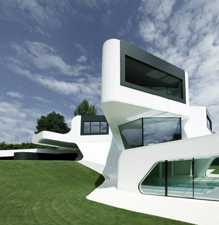 Quiet Corner:Futuristic and Modern Dupli Casa by J. Mayer H ...