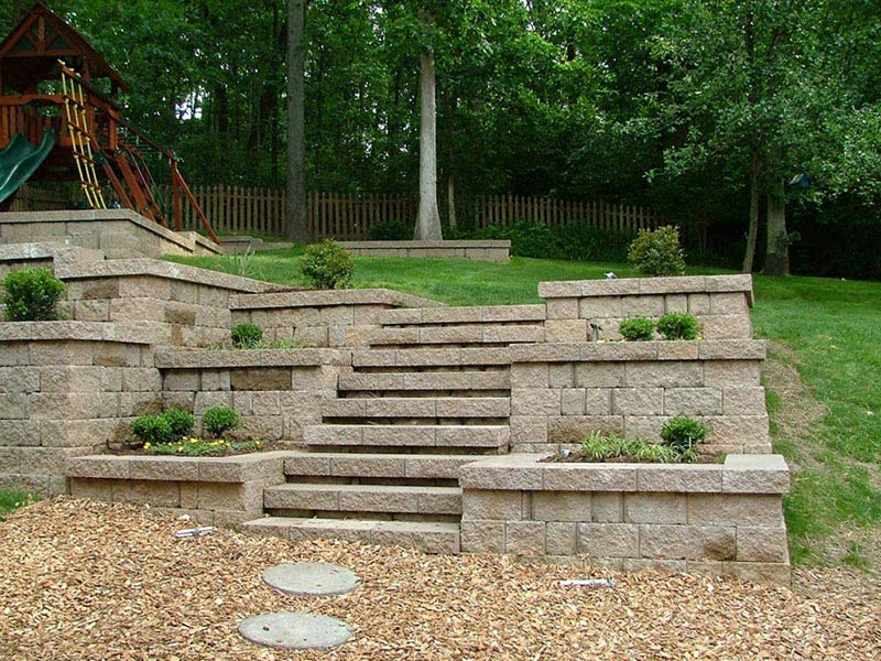 Quiet corner retaining wall design ideas quiet corner for Terrace wall design ideas