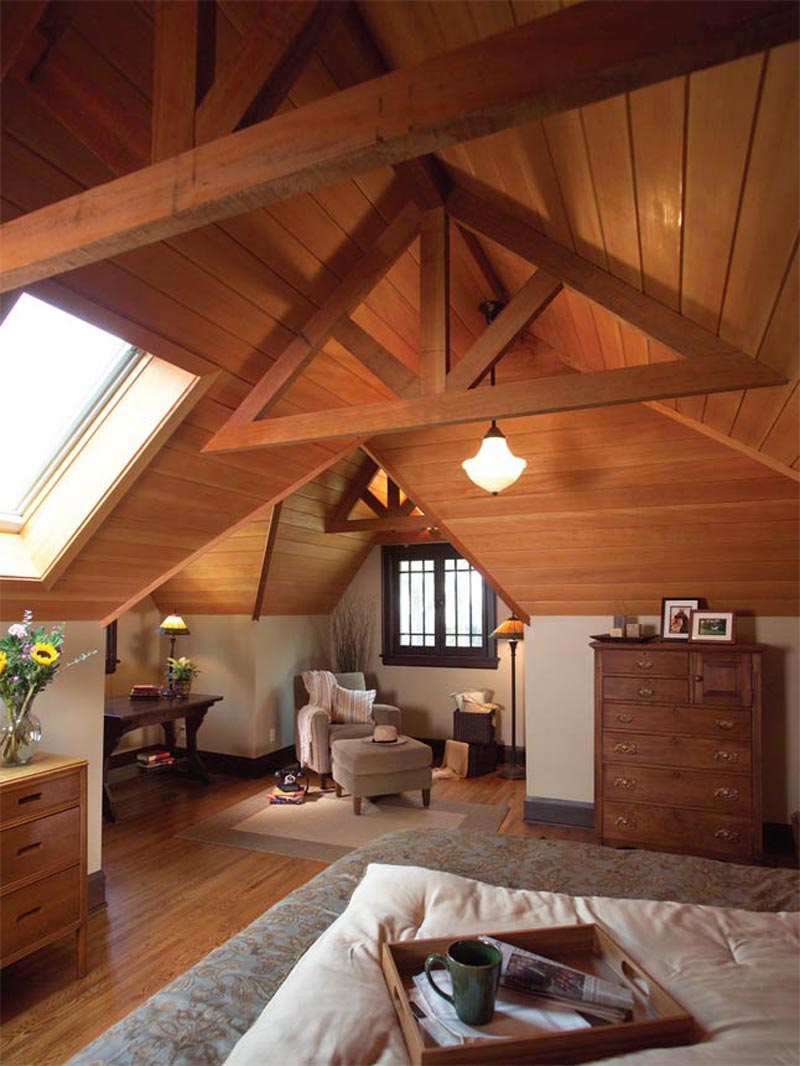 Quiet corner attic space interior design ideas quiet corner for Attic decoration ideas