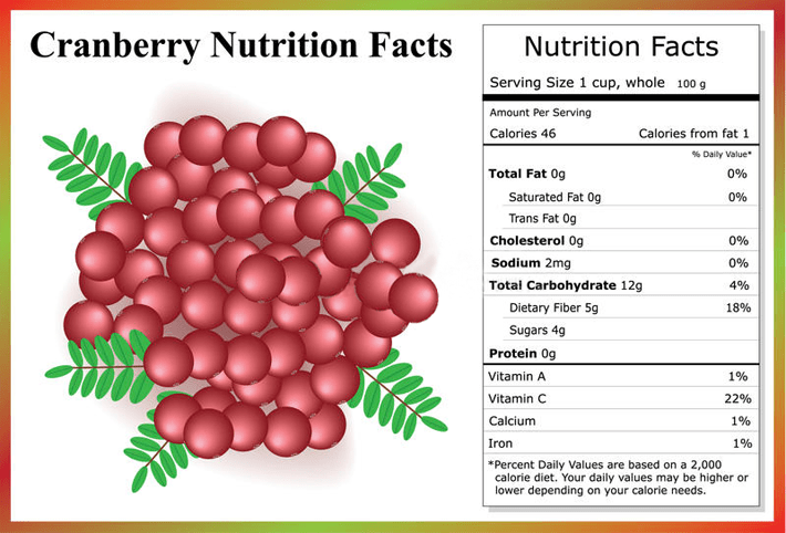 Cranberries Nutrition Facts and Health Benefits