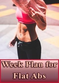 Week Plan for Flat Abs