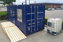 Microdigester turning food waste into fuel and fertilizer