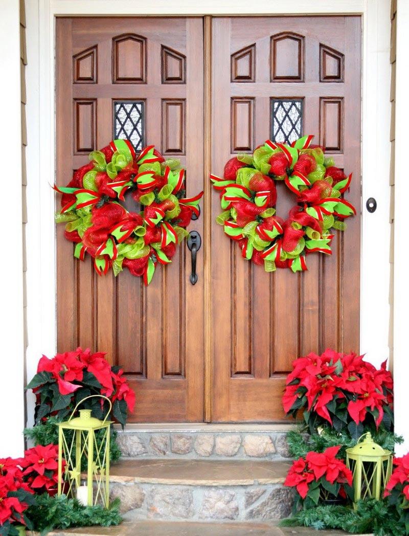Quiet corner christmas front door decorations