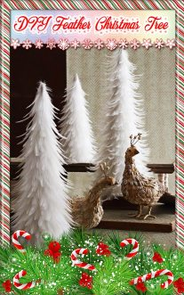 DIY Feather Christmas Tree