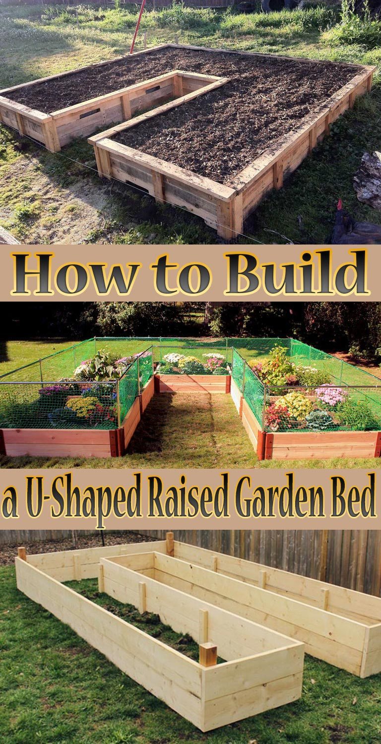 How to Build a U-Shaped Raised Garden Bed - Quiet Corner