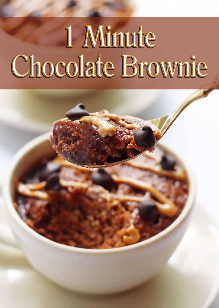 1 Minute Chocolate Brownie - Quiet Corner