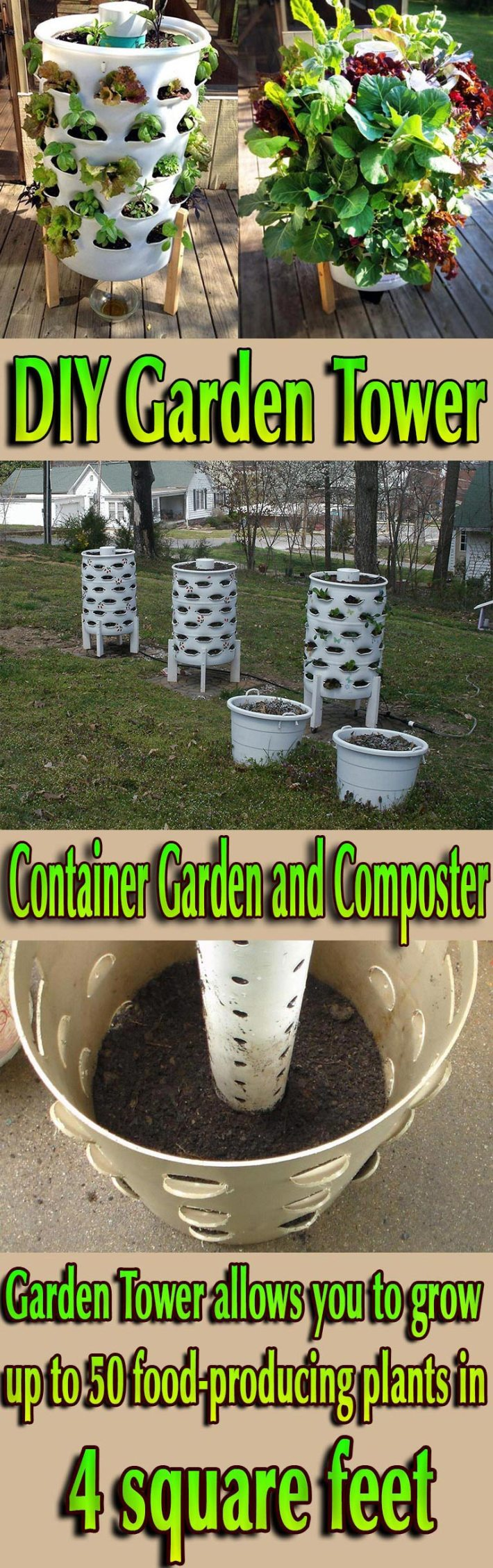 Container Garden and Composter