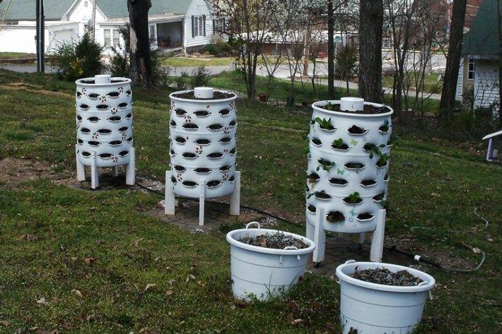 DIY Garden Tower - Container Garden and Composter