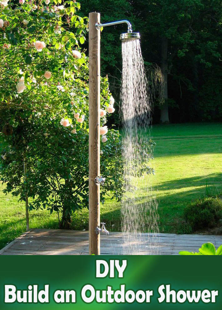DIY - How to Build an Outdoor Shower - Quiet Corner