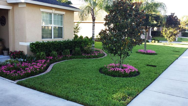 quiet corner front yard landscaping
