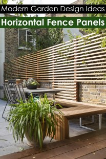 Horizontal Fence Panels: Modern Garden Design Ideas
