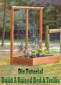Diy Tutorial: Build A Raised Bed & Trellis