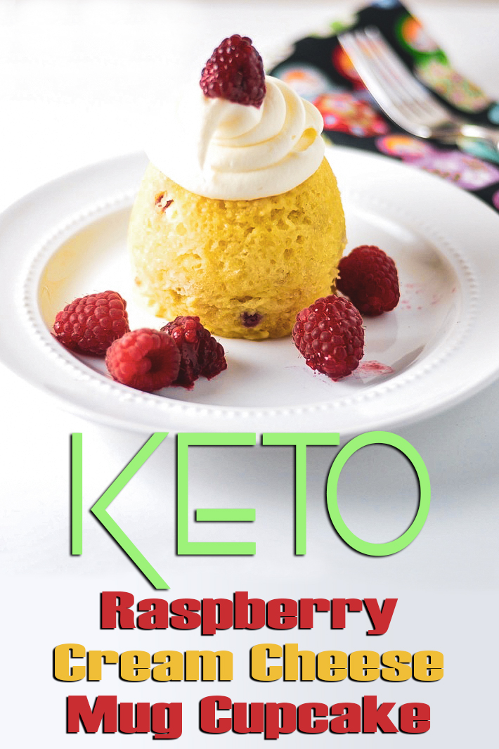 Keto Raspberry Cream Cheese Mug Cupcake