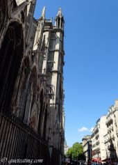 The intimidating spires of Notre Dame